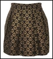 A-wear Gold Brocade Puffball Skirt.