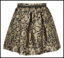 River Island Black Gold Brocade Skirt.