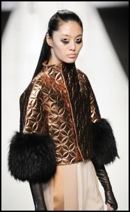 Byblos AW12/13 - Bronze Quilted Jacket.