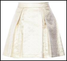 Cream Slub Skirt By Ted Baker.