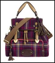 Tweed Tartan Handbag From Debenhams AW12/13.