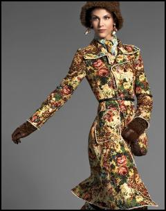 Floral Baroque Tapestry Coat