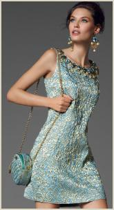 Dolce & Gabbana AW12/13 Brocade Sleeveless Shift Dress.