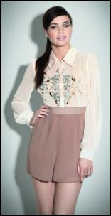 Miss Selfridge AW12/13 Beaded Blouse & Shorts.