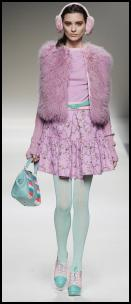 Colourful Pastel Fur Gilet - Blugirl.