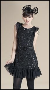 Black Beaded Dress Ruby Ray.
