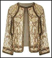 Miss Selfridge Golden Jacket.