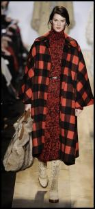 Michael Kors Oversized Blanket Check Coat.