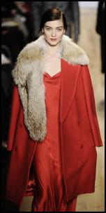 Michael Kors Red Coat.