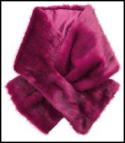Monsoon Pink Faux Fur Tippet.