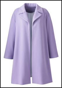Loose Lavender Coat By Simply Be.