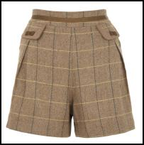 Check Tweed Shorts By Yumi.