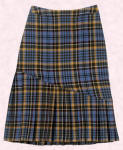 Paul Costelloe blue tartan skirt at John Lewis.  Matching jacket available.