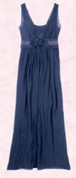 This Midnight Blue Chiffon Dress with Corsage is from John Lewis, priced at £150