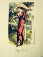 Fashion Plate Reprints Titanic Era - Red Dress