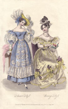 Hand Coloured Engraving 1831 La Belle Assembl�e