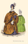 Satin mantle with wide cape-sleeves 1835