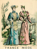 1892 France Mode image of day gowns