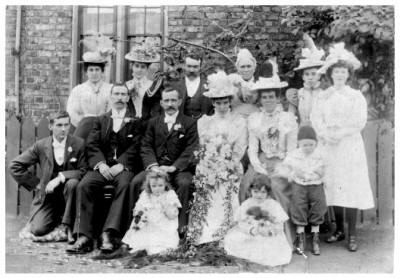 Wedding of 1899 at Lake House Farm, East Jarrow, in North East England.