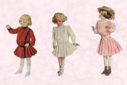 The Typical Edwardian Small Girls 1902 and 1908.