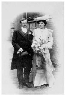1904 Edwardian Wedding Photograph of Elizabeth and James Meakin