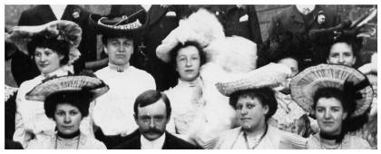 Guests in their hats 1904 wedding group