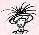 Picture of a line drawing of an Edwardian hat 1907