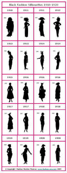 Black Fashion Silhouettes 1910 -1920 screenshot