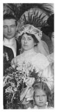 Bride's wedding veil 1912