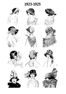 1923 to 1925 Hat Styles