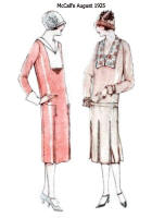 Pleats in skirts in McCall's Pattern Images - August 1925