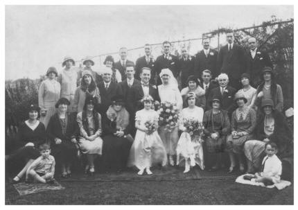 October 1930 Hilda's Wedding photo