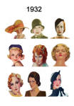 C20th Hair Styles & Hats Images Fashion History 1932
