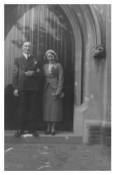 Gwen and Charles on their Wedding  Day 1937