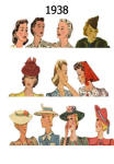 C20th Hair Styles & Hats Images Fashion History 1938