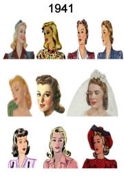 1941 Image of C20th Fashion History Hair and Hat Styles