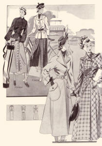 1940s Inside the  Fa�on Tailleur  Cover - Fashion Images 1949