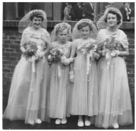 4 bridesmaids June 1954.
