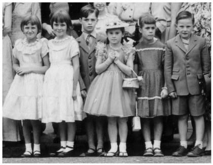 Children Under 10 in Barbara's 1958 Old Wedding Photo
