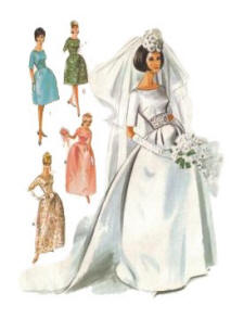 1963 Bridal Dressmaking Sewing Pattern for Wedding Dresses