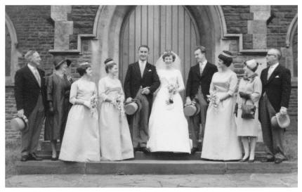 Carole and her husband Roger who married in 1963 at St. Martin's Church Caerphilly, South Wales in the UK