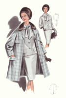 1965 Coat - Fashion History Drawings of the 1960s
