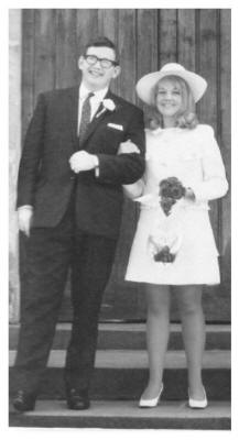 Susan on her wedding day with her first husband Ray Sellars in 1969