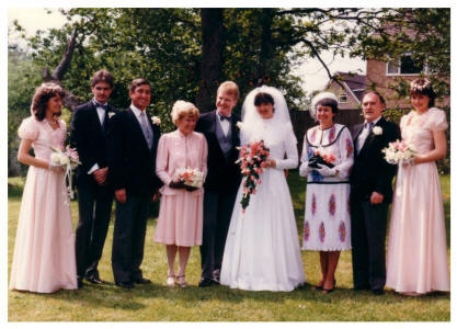 1986 Wedding Group.