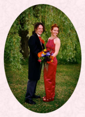 Wedding picture of Paul and Wendy