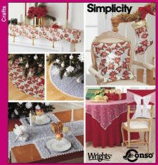 Simplicity Pattern 4846 Xmas Decor in the Home