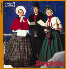 Simplicity Pattern 4851of Victorian Carol Singers