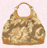This large roomy golden brocade bag left is from sparklingaccessories.com
