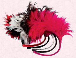 Alice Bands with Feather Spray in Black, Ivory, Chocolate, Fuchsia & Red and just at �20 from John Lewis.