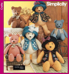 Simplicity Pattern 5461 Teddy Bears